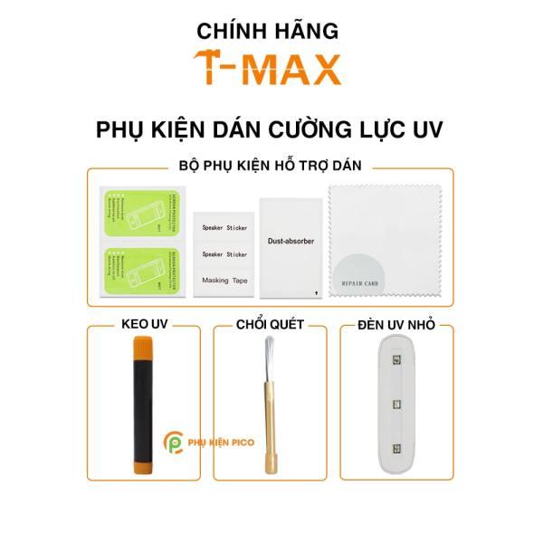Keo UV đèn UV bộ phụ kiện dán cường lực UV bản tách lẻ từ hộp cường lực T-Max