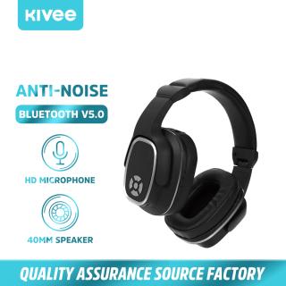 Tai nghe không dây HIFI Tai nghe có thể gập lại Bluetooth 5.0 Tai nghe chơi game giảm tiếng ồn 3D, Micrô, Điện thoại di động(H2) KIVEE thumbnail