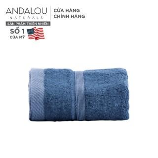 [Quà tặng không bán] - Khăn mặt sợi tre mềm mại màu ngẫu nhiên Andalou Bamboo Facial Towel 30x50cm, chất liệu từ vải sợi tre và cotton không dệt thumbnail