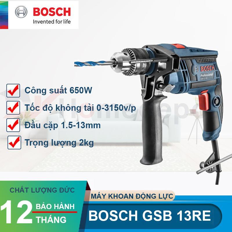 Máy khoan động lực Bosch GSB 13RE (Xanh)
