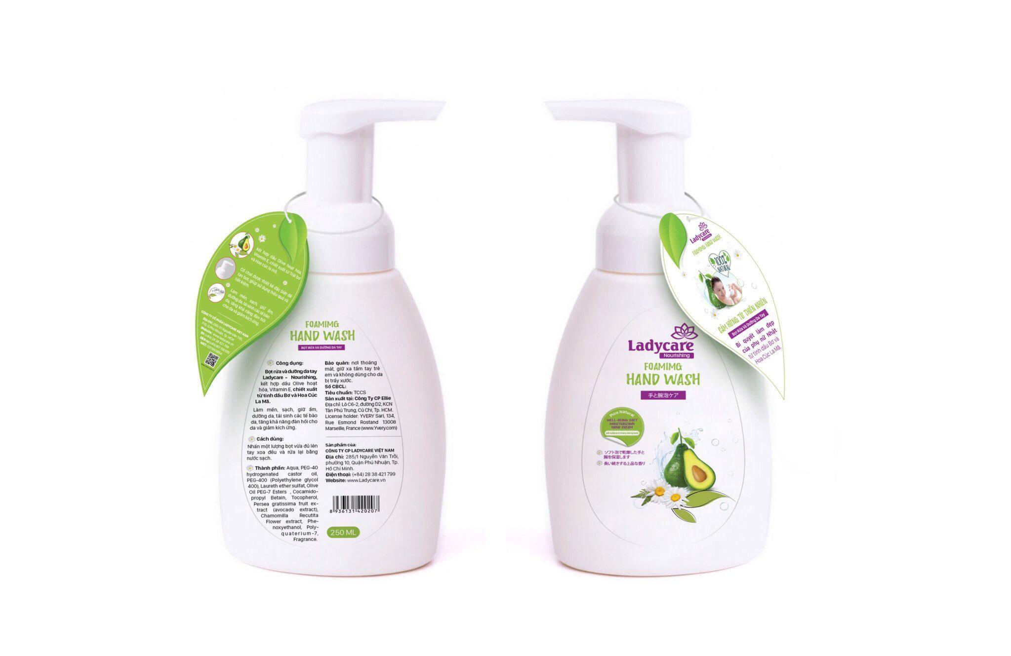 Bọt rửa và dưỡng da tay Ladycare 250ml (Dạng Bọt) cao cấp