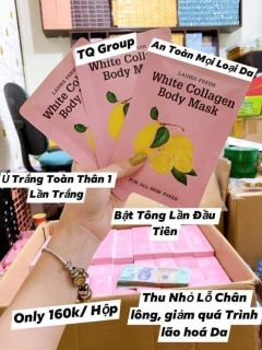 Tắm trắng Chanh White collagen body mask hộp 3 gói thumbnail