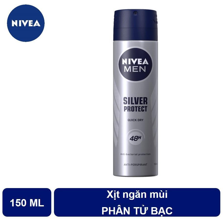 Xịt Ngăn Mùi Silver Protect Nivea Men Chai 150ML nhập khẩu
