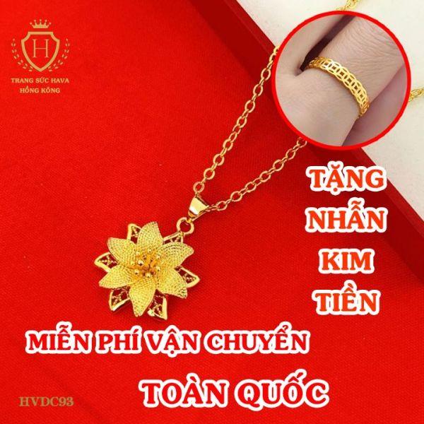 Vòng Cổ, Dây Chuyền Nữ Titan Xi Mạ Vàng Hoa Lily Cao Cấp - Trang Sức Hava