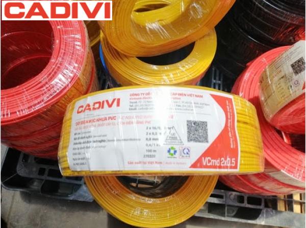 Bảng giá CADIVI Dây Điện Đôi 16 (Vcmd 2x0.5) (Cuộn=100m) - Hàng Việt Nam, Chất Lượng Cao