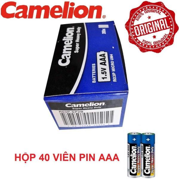 Hộp 40 viên Pin Tiểu AAA (3A) Camelion 15VOL (V) độ bền và tuổi thọ cao không bị chảy nước cực kỳ an toàn cho các thiết bị