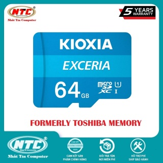 [HCM]Thẻ nhớ MicroSDXC Kioxia Exceria 64GB UHS-I U1 100MB s (Xanh) - Formerly Toshiba Memory - Nhất Tín Computer thumbnail