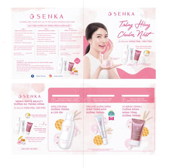 [GIFT] Bộ trial kit Dưỡng da Mochi trắng hồng Senka (Lotion + Serum + UV CC chống nắng)