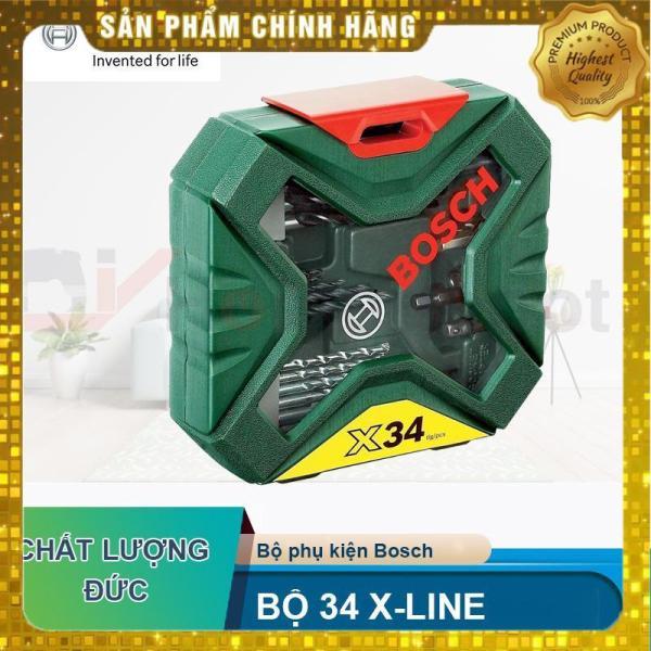 Bộ Mũi Khoan Và Vặn Vít 34 Món Boch X-Line – 2607010608