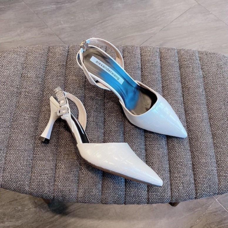 ( Hình Thật ) Giày Cao Gót Quai Hậu Khoá Chữ 5P - Hàng VNXK Cao Cấp - Full Size 35-39 giá rẻ