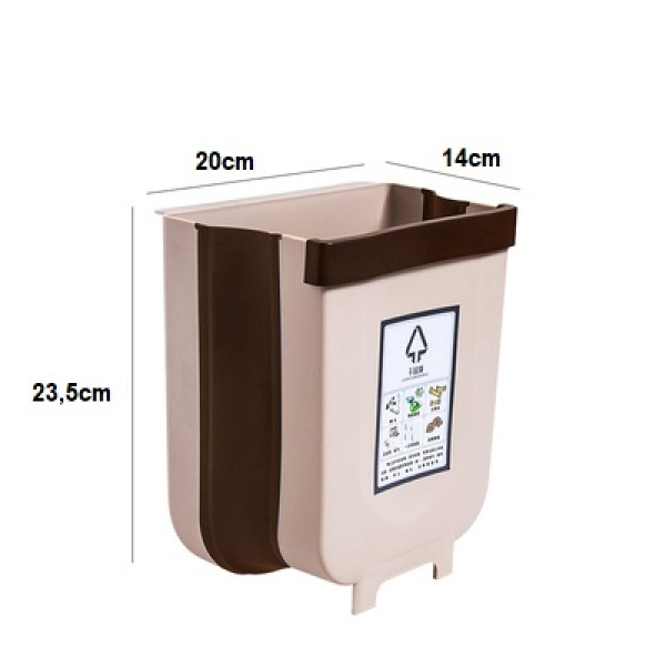 Thùng rác thông minh gấp gọn - làm bằng nhựa cứngdùng để treo tủ bếp sau ghế ô tôthiết kế gọn nhẹ tiện dụng có đầy đủ size lớn và size mini
