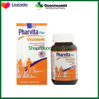 Viên Uống Vitamin Tổng Hợp Pharvita Plus Đông Trùng Hạ Thảo Nhân Sâm Nhung Hươu (Hộp 30 viên) Giúp Ăn Ngon Tăng Cường Sức Đề Kháng Cho Sức khỏe HSD 2024 Đạt chuẩn GPP thumbnail