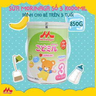 Sữa Morinaga Số 3 Kodomil Nhật Bản vị Dâu 850g Dành cho bé trên 03 tuổi thumbnail