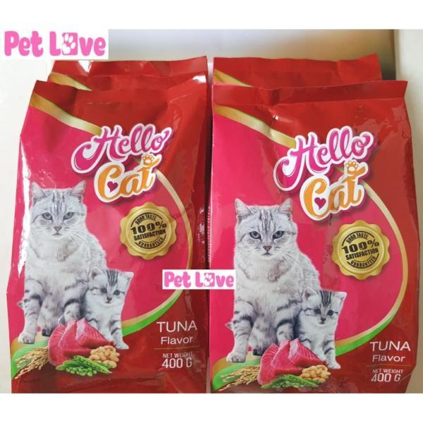 Combo 4 Hello Cat thức ăn hạt cho mèo con và mèo lớn (4 x 400g/ gói = 1,6kg)
