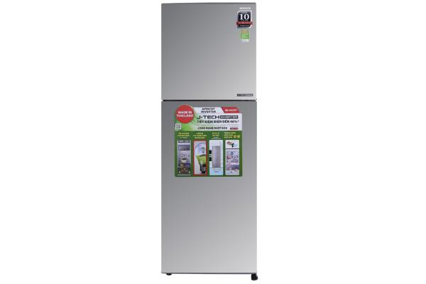 Tủ lạnh Sharp Inverter 224 lít SJ-X251E-SL - Inverter tiết kiệm điện. Công nghệ kháng khuẩn khử mùi:Bộ lọc với các phân tử Ag+Cu Công nghệ bảo quản thực phẩm:Ngăn rau quả cân bằng độ ẩm