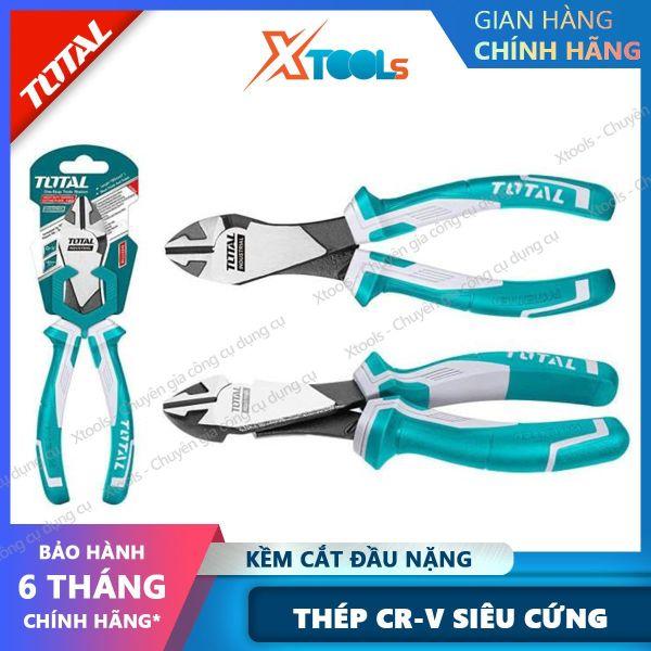 Kìm cắt đầu nặng cao cấp TOTAL THT27716 7inch kềm cắt đầu nặng thép CrV chống rỉ sét siêu cứng tay cầm cao su mềm cắt dây điện cáp kim loại [XTOOLs][XSAFE]