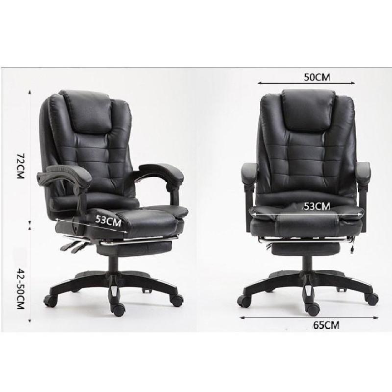 Ghế văn phòng bọc da cao cấp massage 7 điểm, ngả lưng, kê chân thư giãn, ngủ trưa tiện dụng, sang trọng - Ghế văn phòng giá rẻ