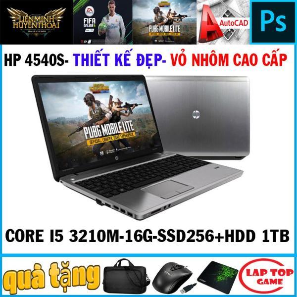 Bảng giá laptop chơi game đồ họa thiết kế đẹp HP 4540S Core i5-3210M/ Ram 16GB/ SSD256+HDD 1tb,  VGA  HD 4000, màn 15.6″ HD LED, dòng máy thiết kế đẹp, bền bỉ Phong Vũ