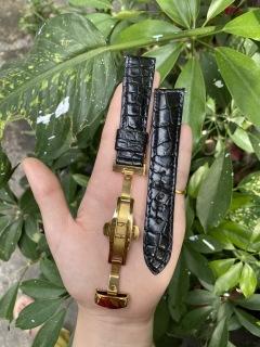 [KB01] Dây đồng hồ da cá sấu KHÓA BƯỚM, HẠT TRÒN,phát hiện giả ĐỀN 10 LẦN TIỀN,TẶNG KÈM cây tháo lắp dây, dây đồng hồ da cá sấu nam, dây đồng hồ da cá sấu nữ thumbnail
