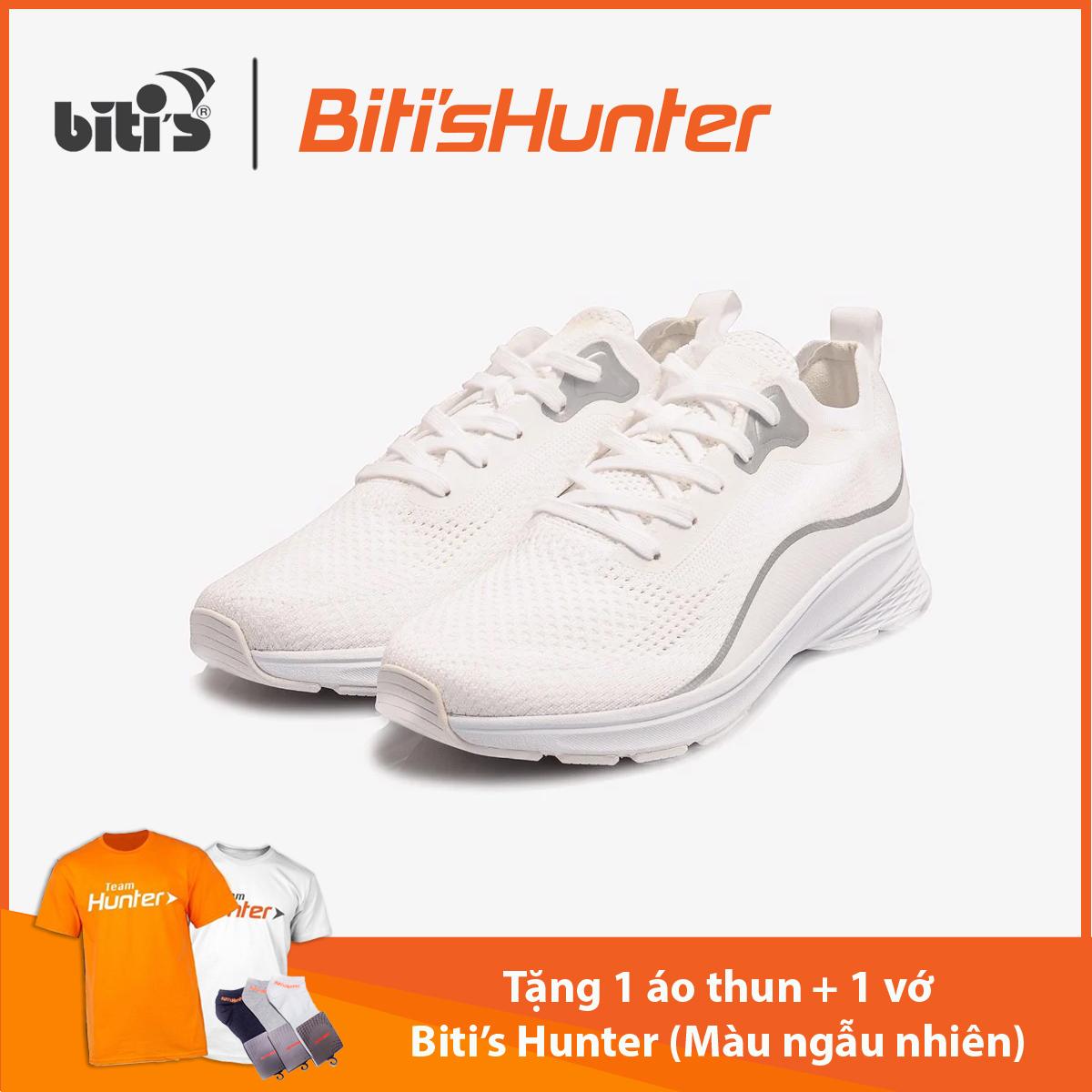 [TẶNG 1 ÁO THUN + 1 VỚ HUNTER TỪ 3/3 - 31/3] Giày Thể Thao Nam Biti's Hunter Core Milky White 2K20 DSMH03201TRG (Trắng)