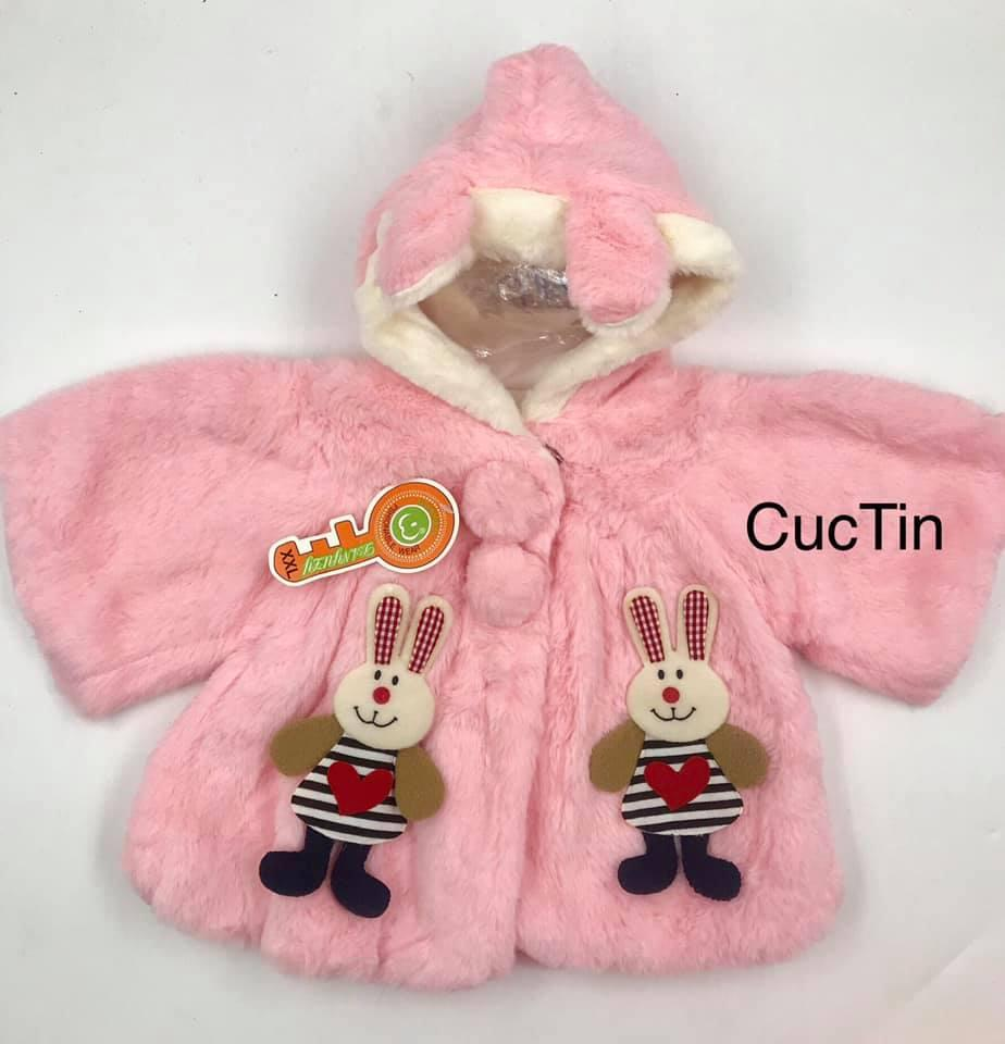 Áo khoác lông CAO CẤP, mặc ấm cho bé 6-10kg.