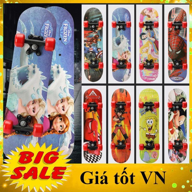 Giá bán [MIỄN SHIP] Ván trượt skateboard trẻ em họa tiết hoạt hình đáng yêu cho bé trai và bé gái - tiêu chuẩn thi đấu