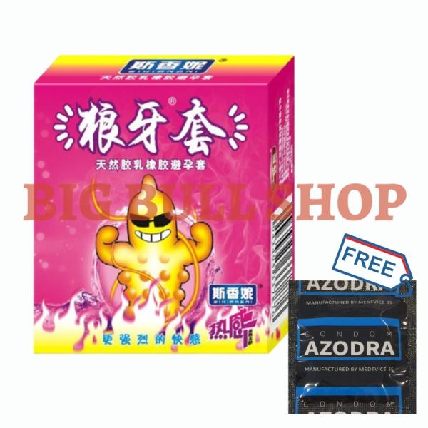 [XẢ HÀNG BCS RUNBO]Bao cao su Runbo 3s mẫu NÓNG Tặng kèm 1 chiếc bao cao su Azodra 4in1 super long shock - 1 set - Big Bull Shop giá rẻ