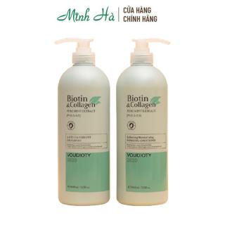 Combo dầu gội xả ngăn ngừa gàu Biotin & Collagen Pure Mint Extract Anti-Dandruff 1000ml giúp làm sạch gàu thumbnail