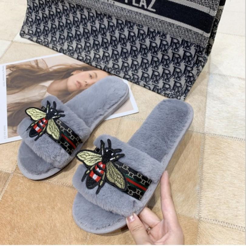 Dép lông bươm bướm thu đông cực xinh MSPDL10 Giayxinhstore, thiết kế thời trang, sang trọng, đường may tỉ mỉ chắc chắn, dễ kết hợp với các trang phục khác giá rẻ