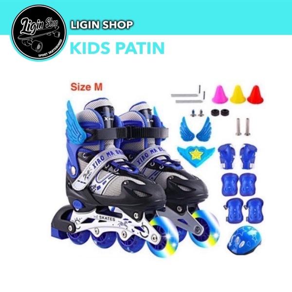 Mua Giày trượt patin trẻ em, giày patin tặng kèm bảo hộ nón (xiao).