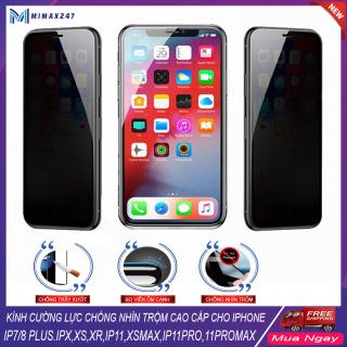 [HCM]Kính cường lưc kính cường lực chống nhìn trộm iphone kính cường lực full màn hình cho IPhone 7 8-7 8plus-IP X- XS -XS MAX - 11- 11 PRO MAX ---MIMAX247 thumbnail