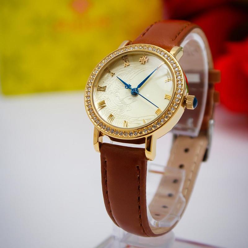 Đồng hồ nữ Julius JA-585LC dây da màu nâu cực xinh