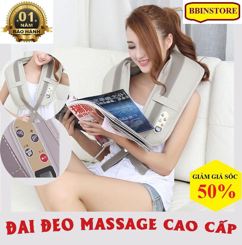 Máy massage vai, Máy massage gáy cổ, Đai đeo mát xa lưng, cổ. Đai đeo thiết kế thông minh làm giảm các cơn đau mỏi nhanh chóng. Bảo hành 1 đổi 1 tại BBINSTORE.