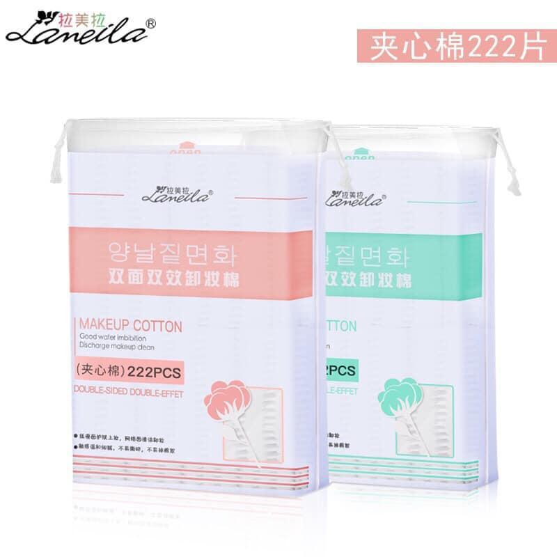 COMBO 2 Bông tẩy trang túi 222 miếng nhập khẩu