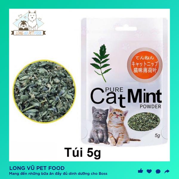 Túi catnip cho mèo cỏ mèo Catmint 5g thư giãn cho mèo - Đồ chơi cho mèo - Long Vũ Pet Food