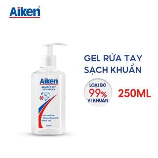 [FREESHIP 100% HCM] Gel rửa tay Sạch khuẩn Aiken 250ml Dạng vòi thumbnail