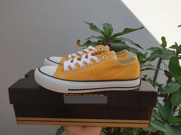 giày cv vàng thấp cổ - tặng hộp giá rẻ