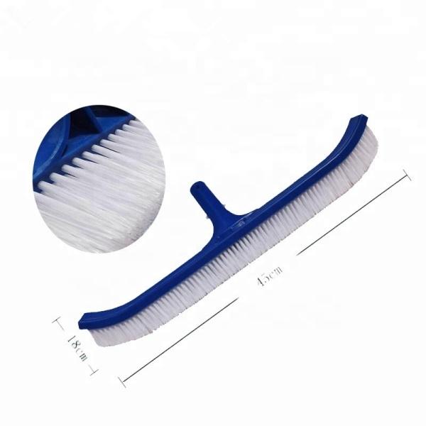 Bàn chà hồ bơi 45cm mã SC-14 bằng nhựa và sợi cước (bàn chải vệ sinh hồ bơi, chỗi cọ vệ sinh hồ bơi) chuyên dùng cọ rửa, vệ sinh hồ bơi - màu xanh - Thiết bị vệ sinh hồ bơi