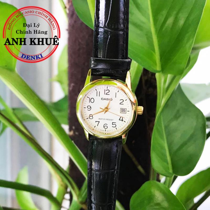 Đồng hồ nữ dây da Casio Standard Anh Khuê LTP-V002GL-7B2UDF cao cấp