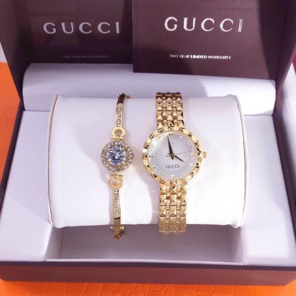 [HCM]Đồng hồ thời trang nữ GC001 dây kim loại + Tặng lắc tay đính đá cao cấp trị giá 120k + pin dự phòng