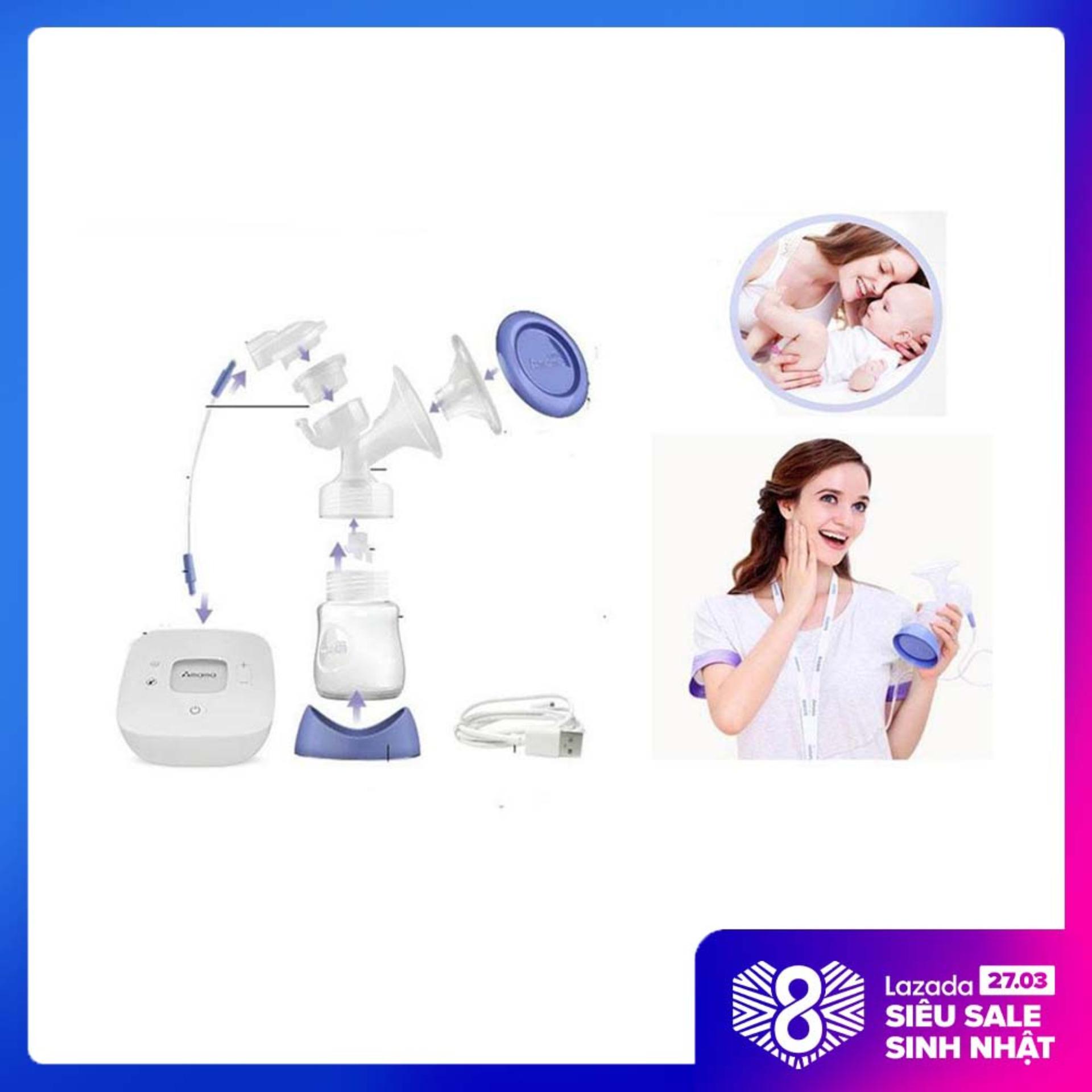 Nên mua máy hút sữa nào tốt, Mua Bán Máy Hút Sữa - Máy Vắt Sữa Cầm Tay Mini Amama SH5118, Kiểu Dáng Trang Nhã Thiết Kế Gọn Nhẹ, Dễ Dàng Điều Chỉnh Áp Lực Hút. Bảo hành 12 tháng tại BTS