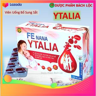 Viên Uống Fe nano Ytalia - Hỗ Trợ Bổ Sung Sắt , Acid folic cho cơ thể, Hỗ trợ tạo máu, giúp giảm nguy cơ và cải thiện tình trạng thiếu máu do thiếu sắt- Nguyên liệu nhập khẩu Bỉ-Hộp 60 viên thumbnail