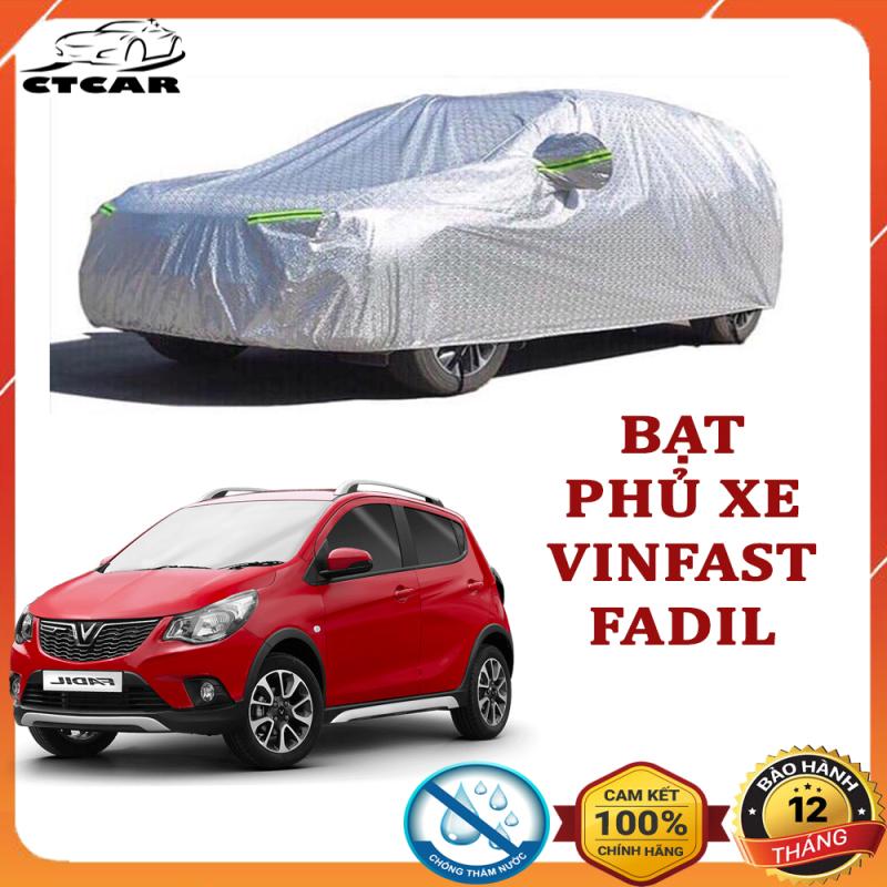 Bạt phủ xe ô tô cho xe VINFAST FADIL loại 3 lớp tráng nhôm cách nhiệt, chống nắng, chống xước, chống cháy che mưa hiệu quả tặng 5 viên sủi rửa kính