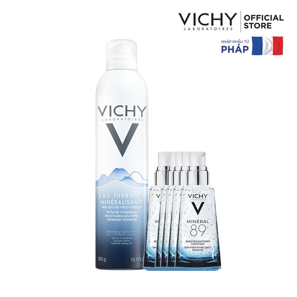 Bộ xịt khoáng dưỡng da Vichy Mineralizing Thermal Water 300ML + Tặng dưỡng chất giàu khoáng chất Mineral 89 tốt nhất