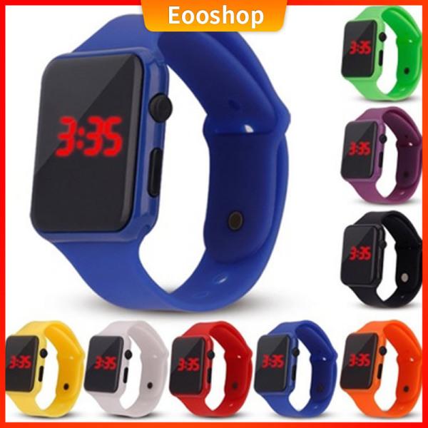 🔥[Giảm giá nóng]🔥Eooshop Đồng hồ LED thời trang Hình vuông Đơn giản Sáng tạo Điện tử Nam Nữ Trẻ em Đồng hồ Cặp đôi