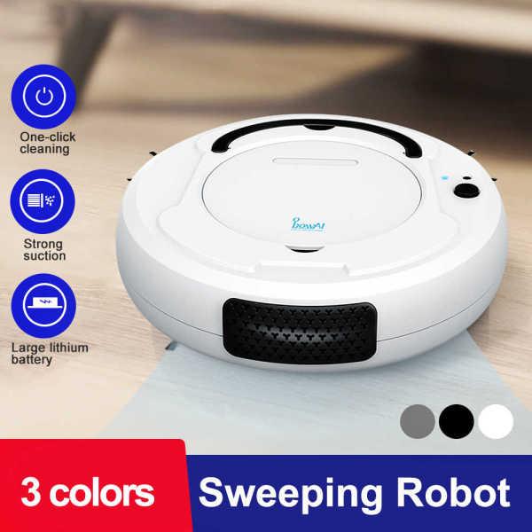 [XẢ KHO 3 NGÀY - VẬN CHUYỂN MIỄN PHÍ] Robot Hút Bụi Tự Động Thông Minh-Sạc Qua Cổng USB-Máy Hút Bụi mini 3 Trong 1 Quét,Hút,Lau Nhà - Robot Tự Lau Nhà Thông Minh.