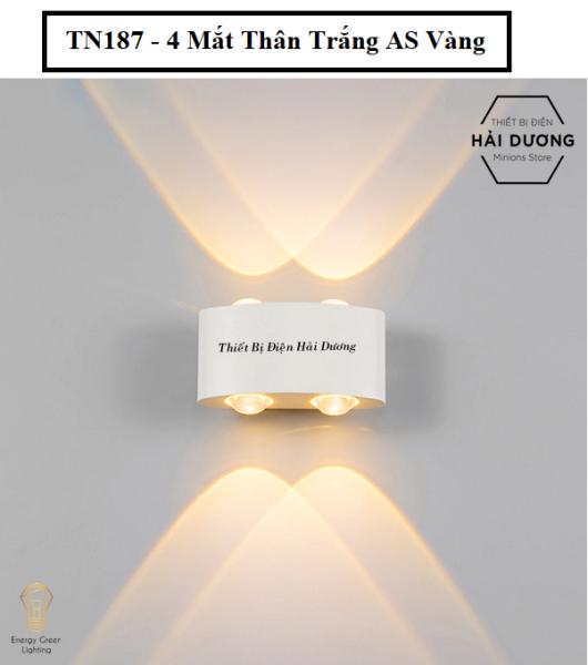Đèn trang trí hắt tường 2 đầu - 4w/6w chống nước TN187-TN188 (Đen/Trắng). Sản phẩm chống thấm nước, bền bỉ với thời gian, có thể sử dụng ngoài trời