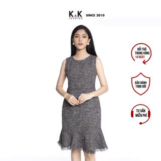 Đầm Nữ Ôm Body Caro Đuôi Cá Sát Nách Dự Tiệc K&K Fashion HL15-12 Bố Mỏng thumbnail