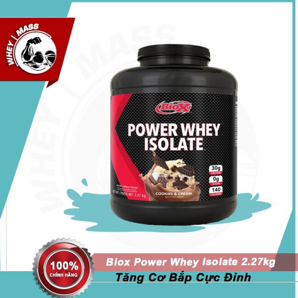 Sữa Dinh Dưỡng Tăng Cân Tăng Cơ BIOX POWER WHEY ISOLATE 2.27KG
