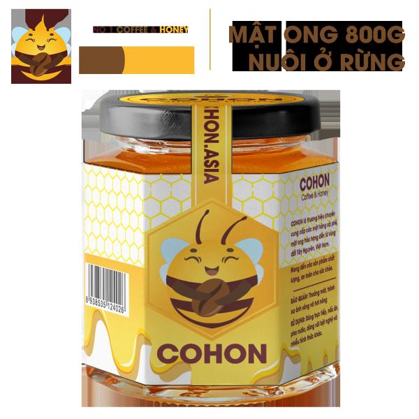 Mật ong Hoa Cà Phê nguyên chất xuất khẩu 800g COHON